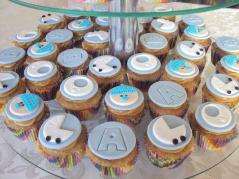 Mini cupcakes chá de bebê