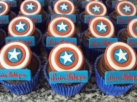 Cupcakes Capitão America