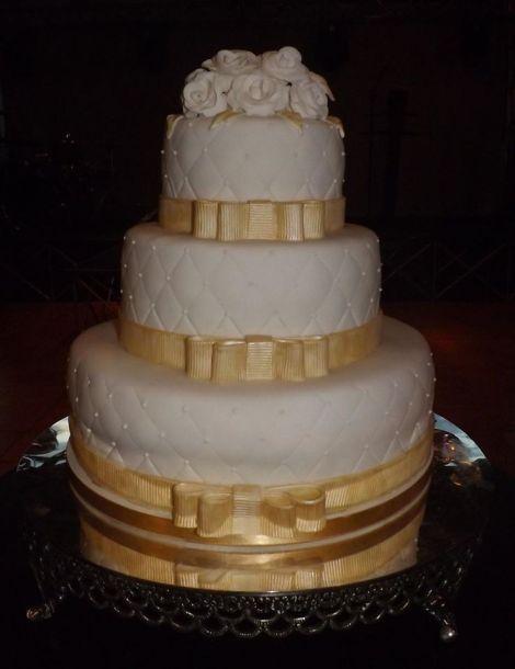 Bolo decorado para casamento