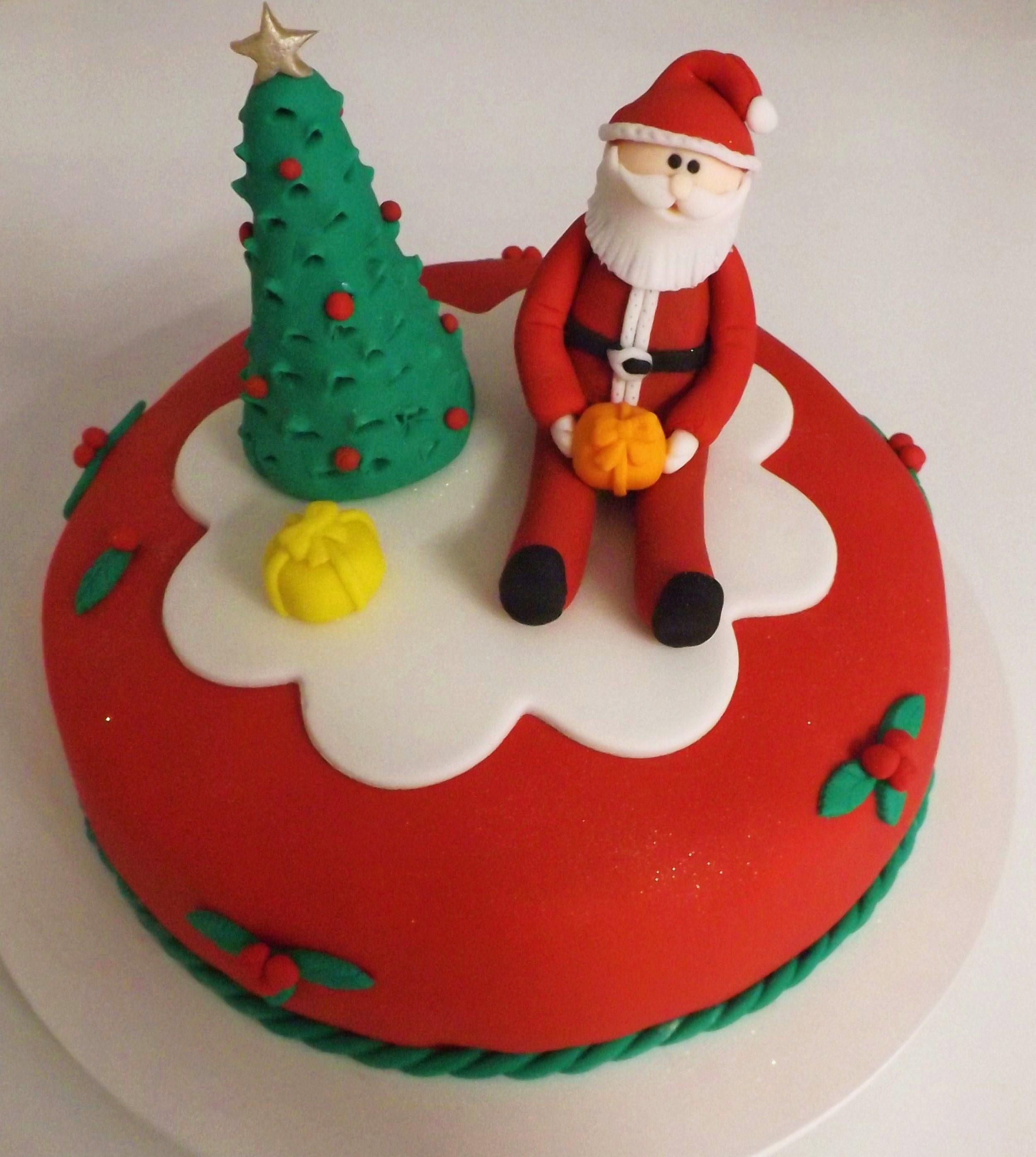 Baños Decorados Navidenos:Bolo decorado Natal
