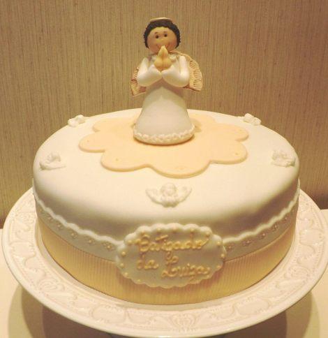 Bolo decorado para Batizado de menina