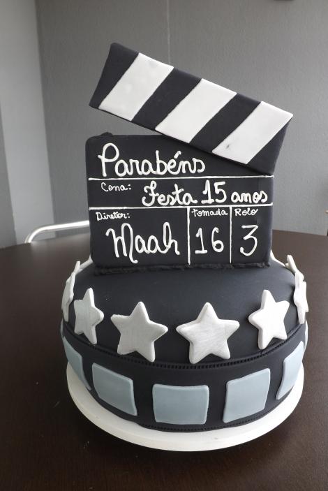 Bolo de 15 anos estrela de cinema